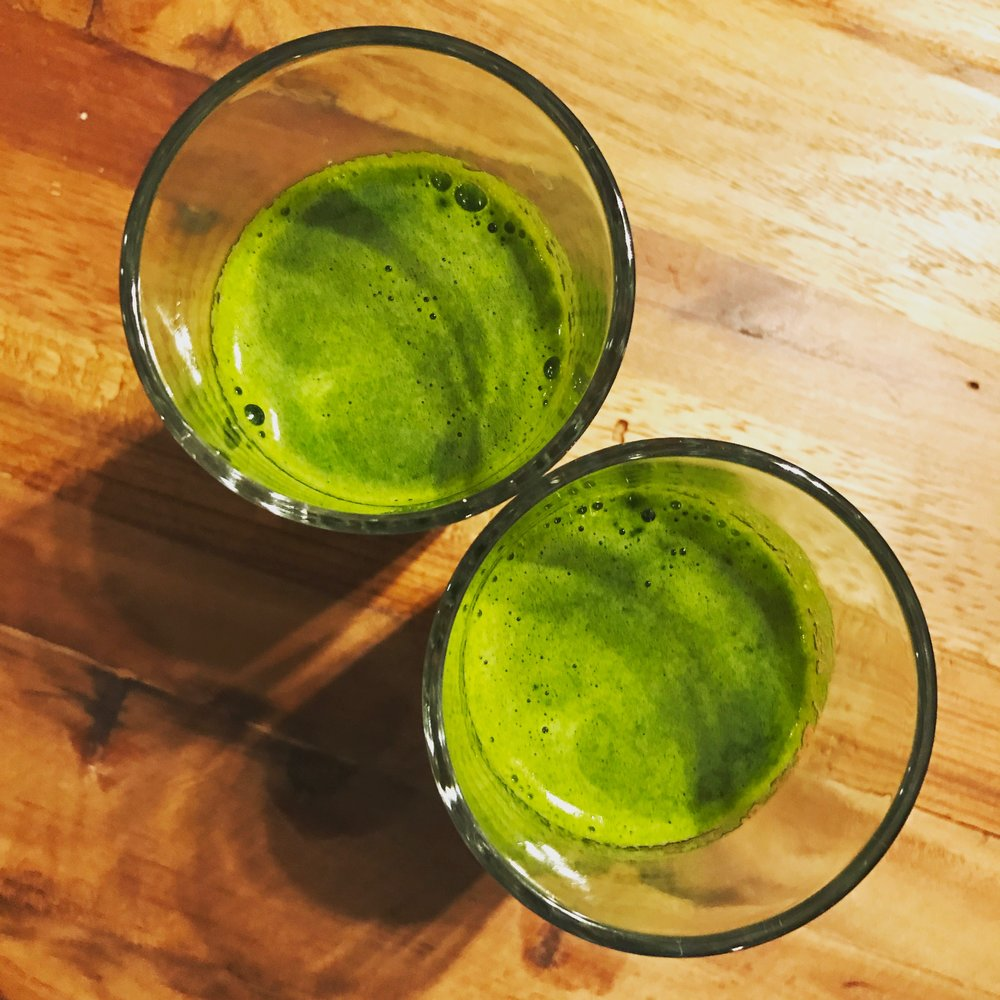 Learn new recipes that are healthy & tasty! - Pictured here: Dr. Dimpi's favorite green smoothie