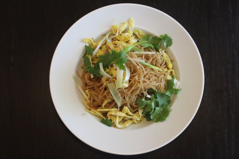 Dish Name: Khaw Mee - Rice Noodle Stir Fry Dining Style: Khaw Mee is traditionally enjoyed at room temperature.