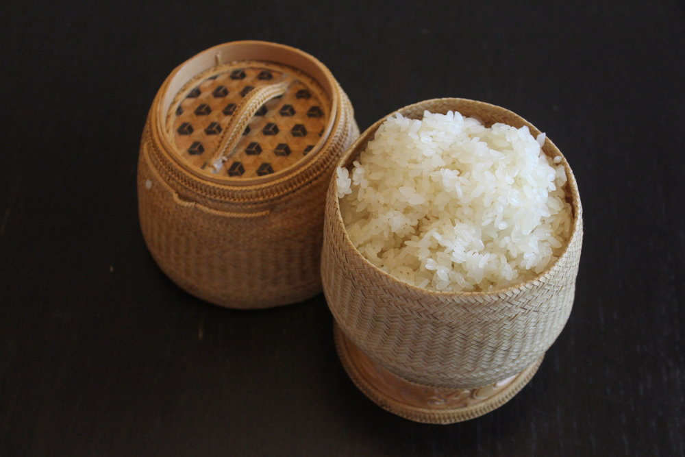 Khao Niaw - Sticky Rice Dining style: Sticky rice can be eaten at room temperature, but if you prefer it to be warm, place it in the microwave for 30 sec & enjoy!