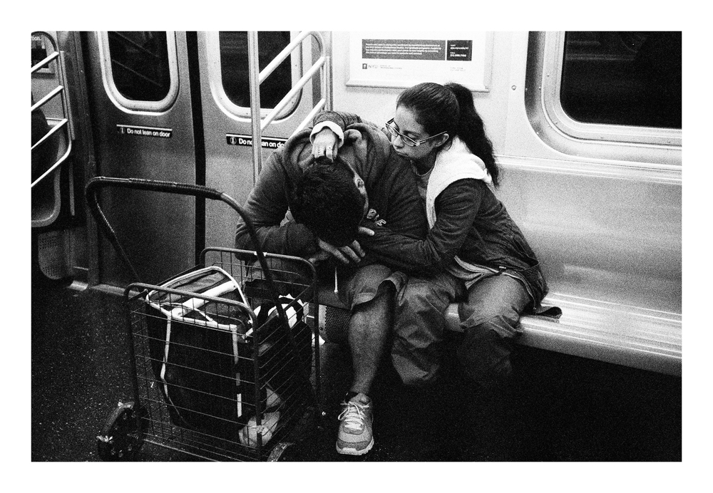 Subway Scene, NYC