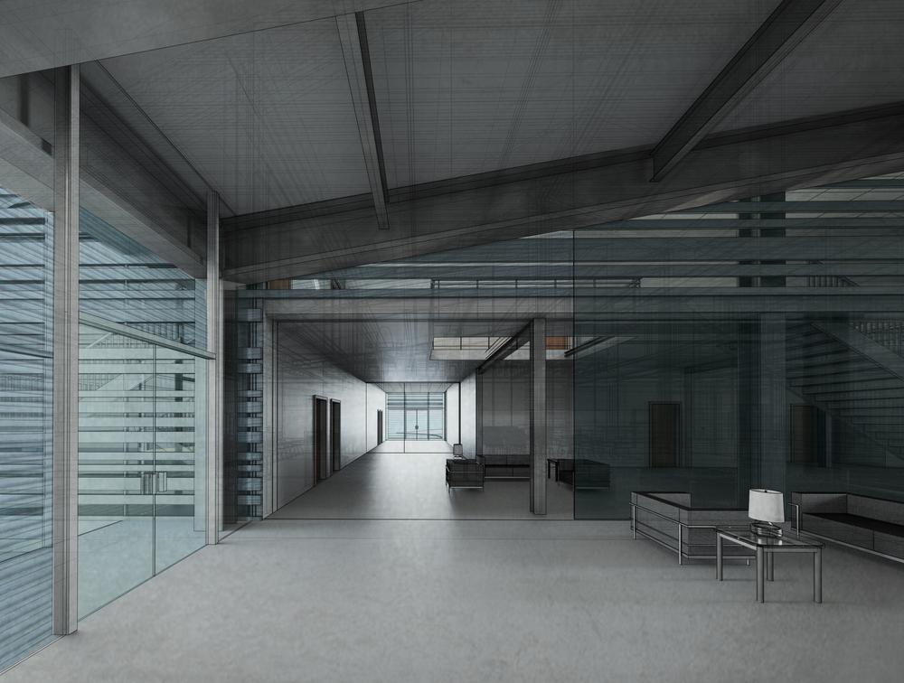 hallway_rendering_bw_no lines.jpg