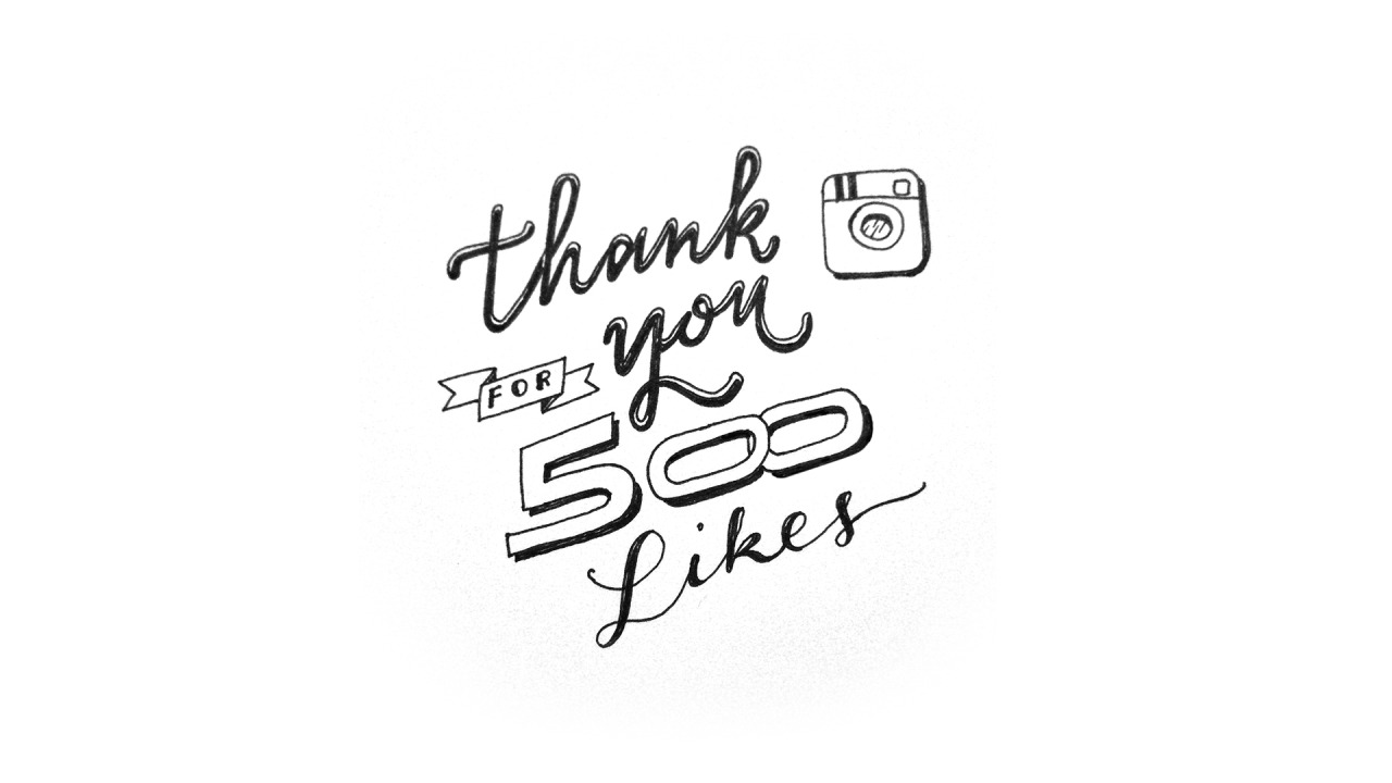 Thank you so much for 500 Followers on Instagram! @ewejintee