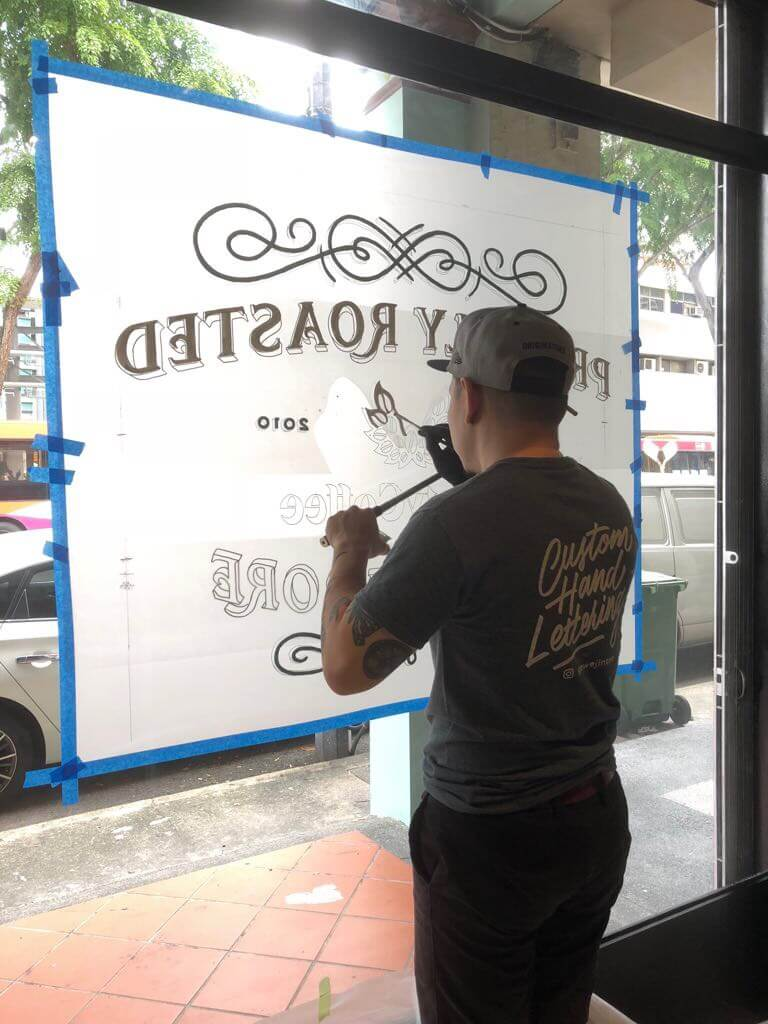 Painting Liberty Coffee logo