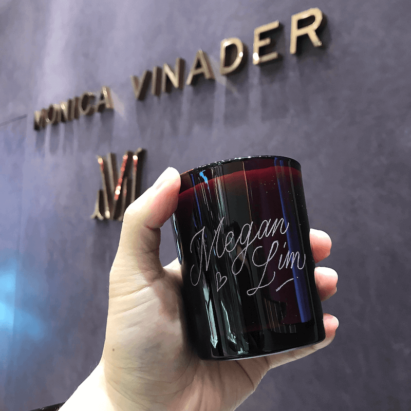 Glass Engraving on glass bottle - EJTEE Singapore