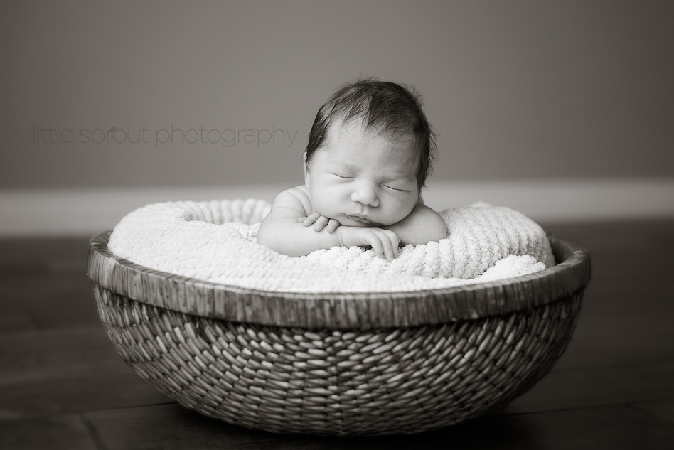 Tagged baby basket