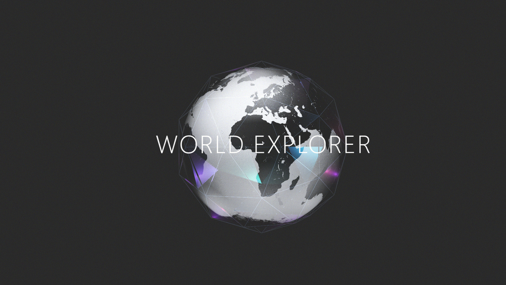 "Project ""World Explorer"" was the name used during my time working on the project as a result many of my visuals below still reflect that name."
