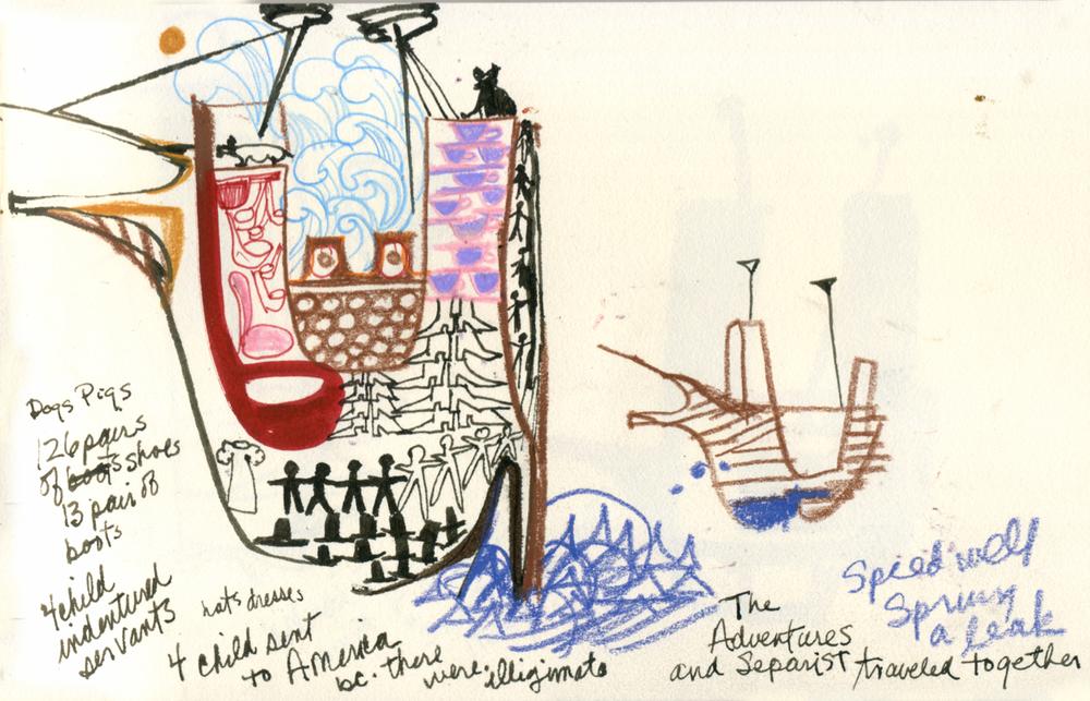 Mayflower cargo, Mystic Seaport, CT, 2015