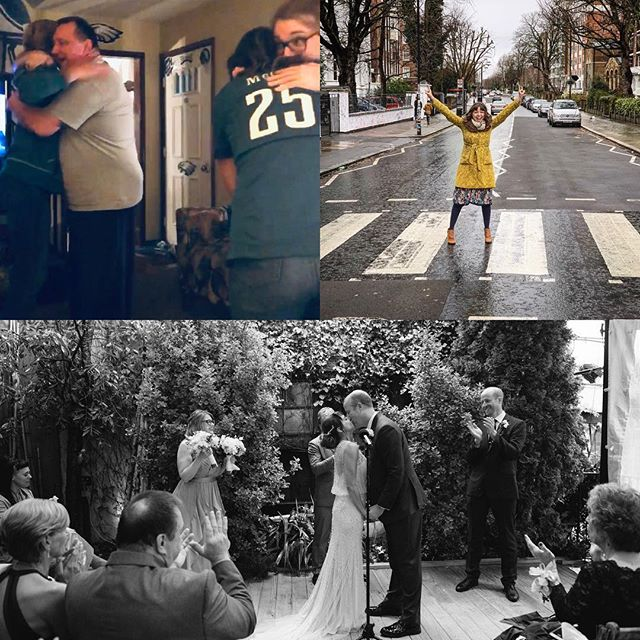 No need for a top 9 this year- these 3 moments were epic enough!!! Celebrating the @philadelphiaeagles first Super Bowl win with my family. Turning another year older on Abbey Road. Marrying my dream man @ariesie My. Heart. Is. Full. Thank you, 2018.