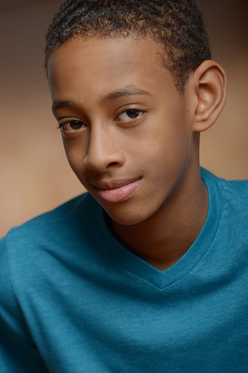 Teen actor headshot