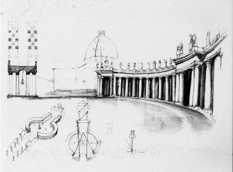 Travel Sketch St. Peters, Rome