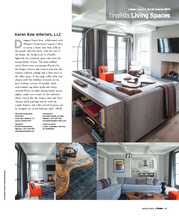 Modern Farm house in Westport Ct Finalist AtHome Magazine