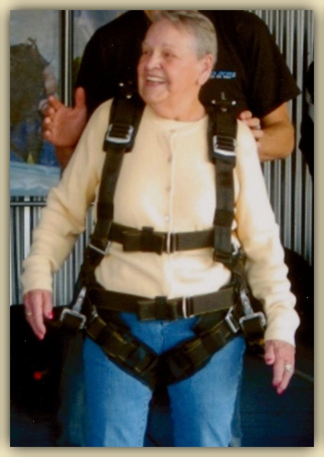 Betty ~ Skydiving at 80