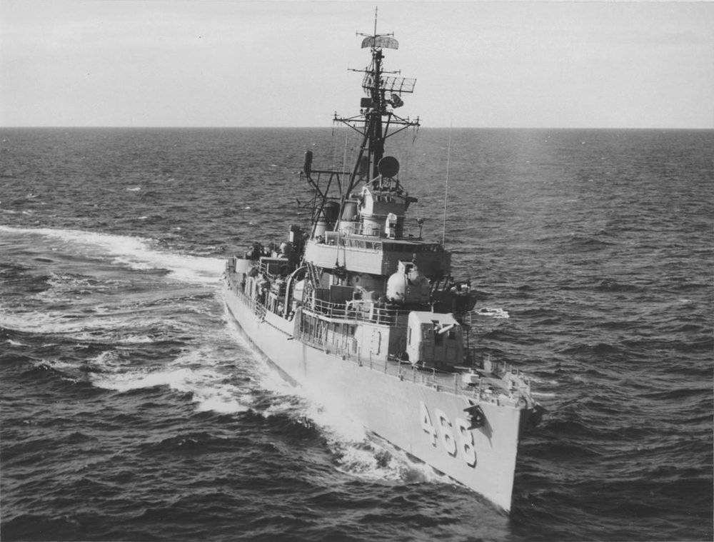 USS Taylor DD-468    (Photo Courtesy of James G. O'Neill CDR USNR-Ret)