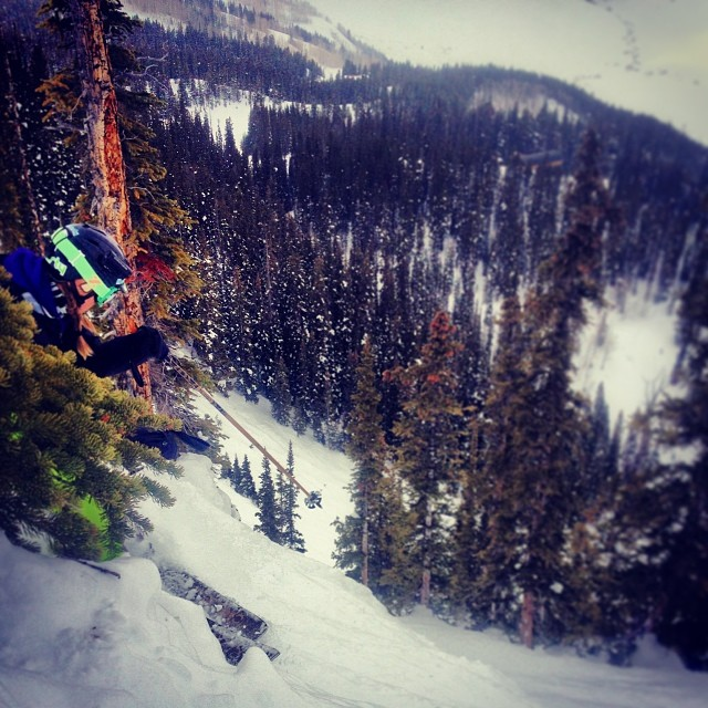 Dodging trees and rocks at Crested Butte.