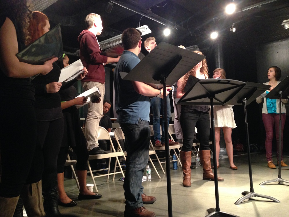 "First stage reading of ""The Runaway Clone"" co-written with Pamela Eberhardt, CAP21, NYC"