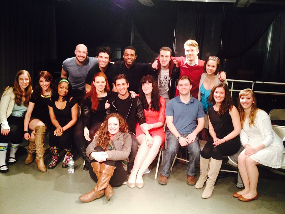 Cast of the first stage reading of The Runaway Clone, CAP 21, NYC