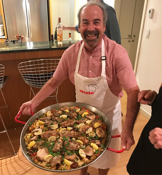 We work hard and play hard at #bernbaummagadiniarchitects .  Special thanks to Bruce and Cindy for a lovely evening celebrating the happy couple soon to be wed!! #paella #danandkimswedding #saturdaynight #tipsyfortypaldos #weddingshower