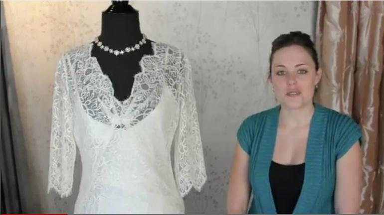 Elizabeth Fillmore Sandrine bridal gown