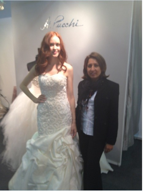 St. Pucchi Designer Rani Totman at NY Bridal Market April 2012
