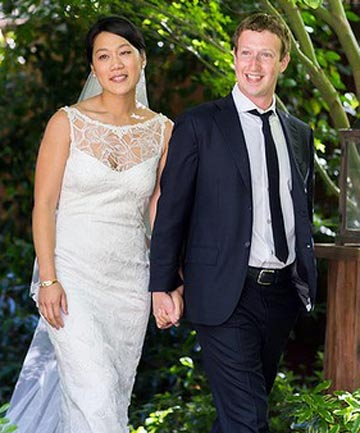 Mark Zuckerberg's wedding dress by Claire Pettibone