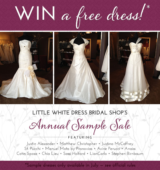 Win a Bridal Gown During Little White Dress Bridal Shop's Sample Sale