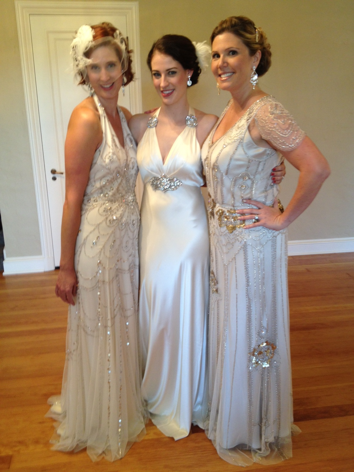 Jenny Packham dresses for Great Gatsby themed wedding