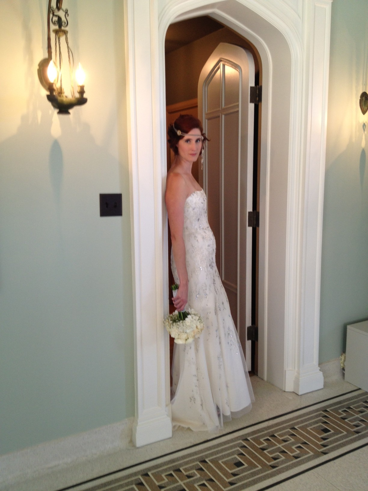 Jenny Packham gown at The Great Gatsby themed wedding shoot