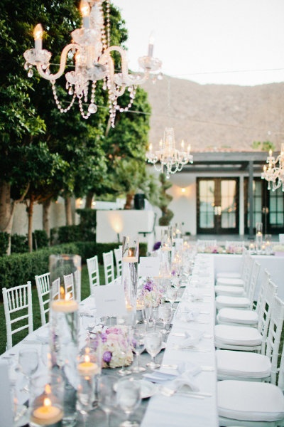 Elegant outdoor wedding dining