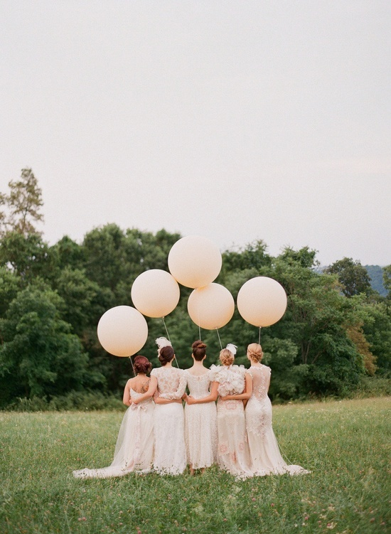 Pastel pink wedding balloons - so whimsical!