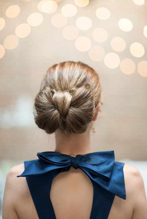 Bow hair and dress