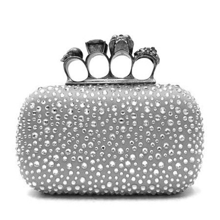 Alexander McQueen studded ring clutch