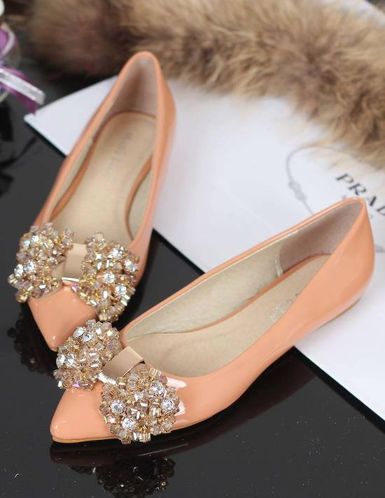 Wedding shoes - jeweled Prada flats