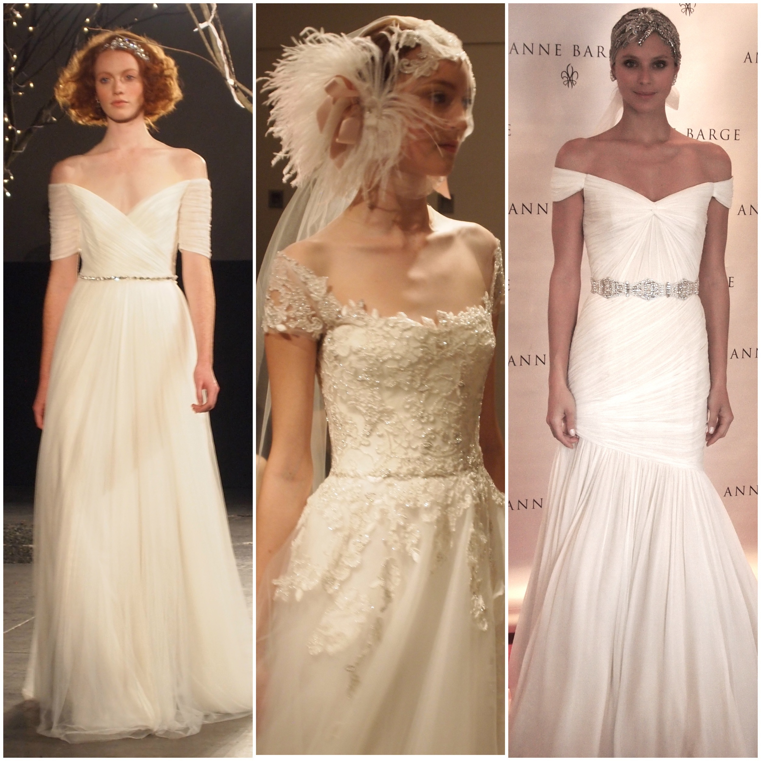 Left to Right: Jenny Packham, Reem Acra, Anne Barge
