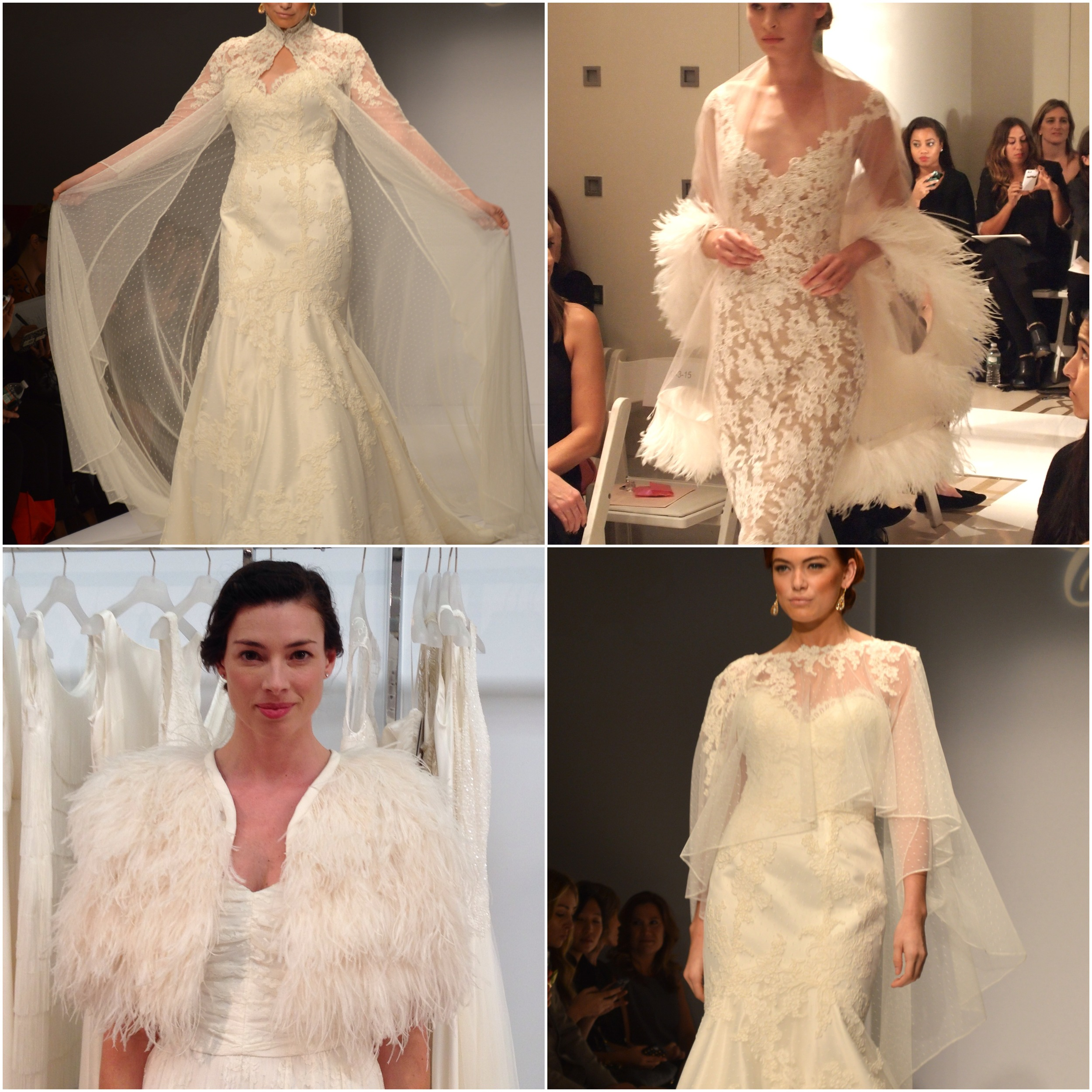 Clockwise from top left: Matthew Christopher, Reem Acra, Matthew Christopher, Charlie Brear