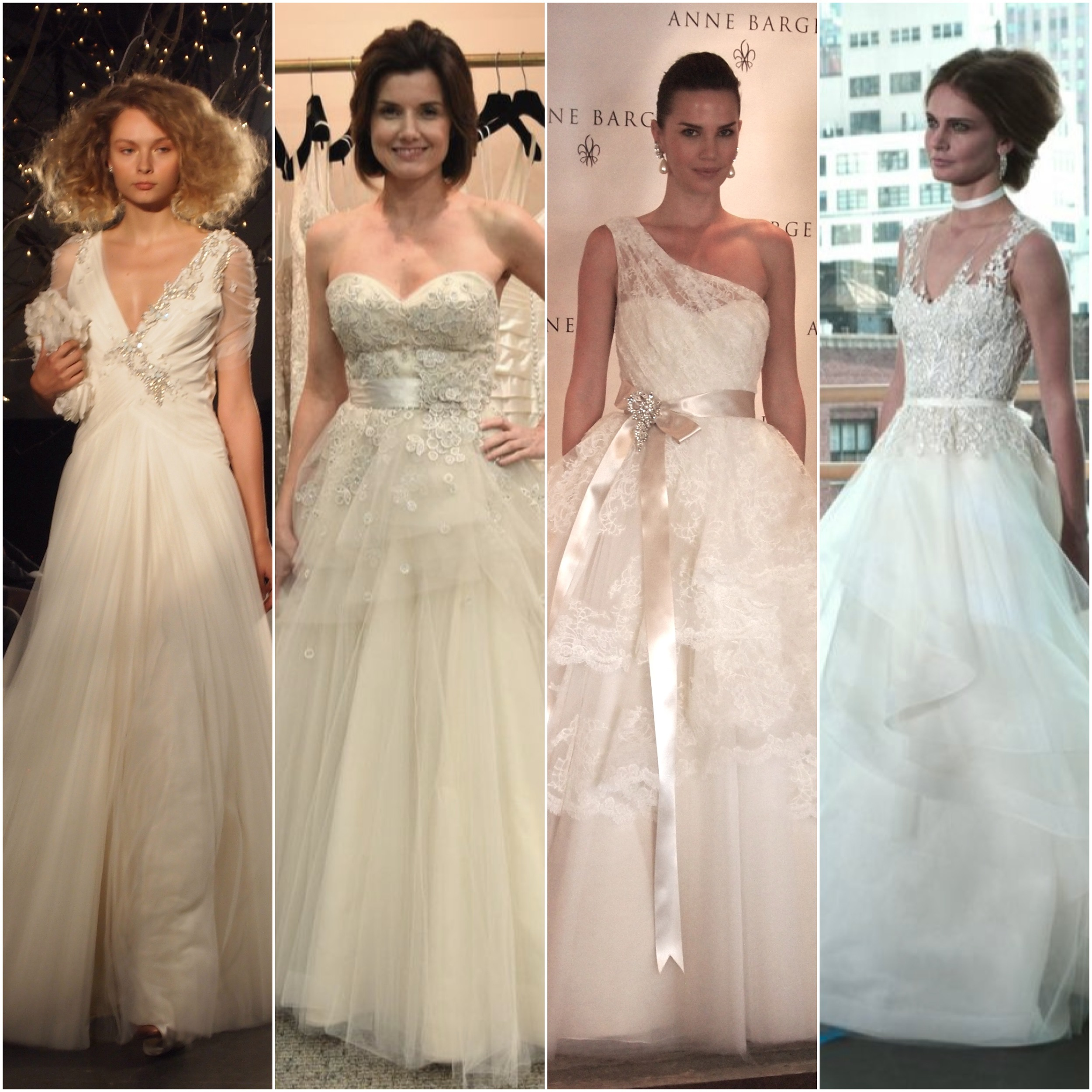 Left to Right: Jenny Packham, Liancarlo, Anne Barge, Rivini