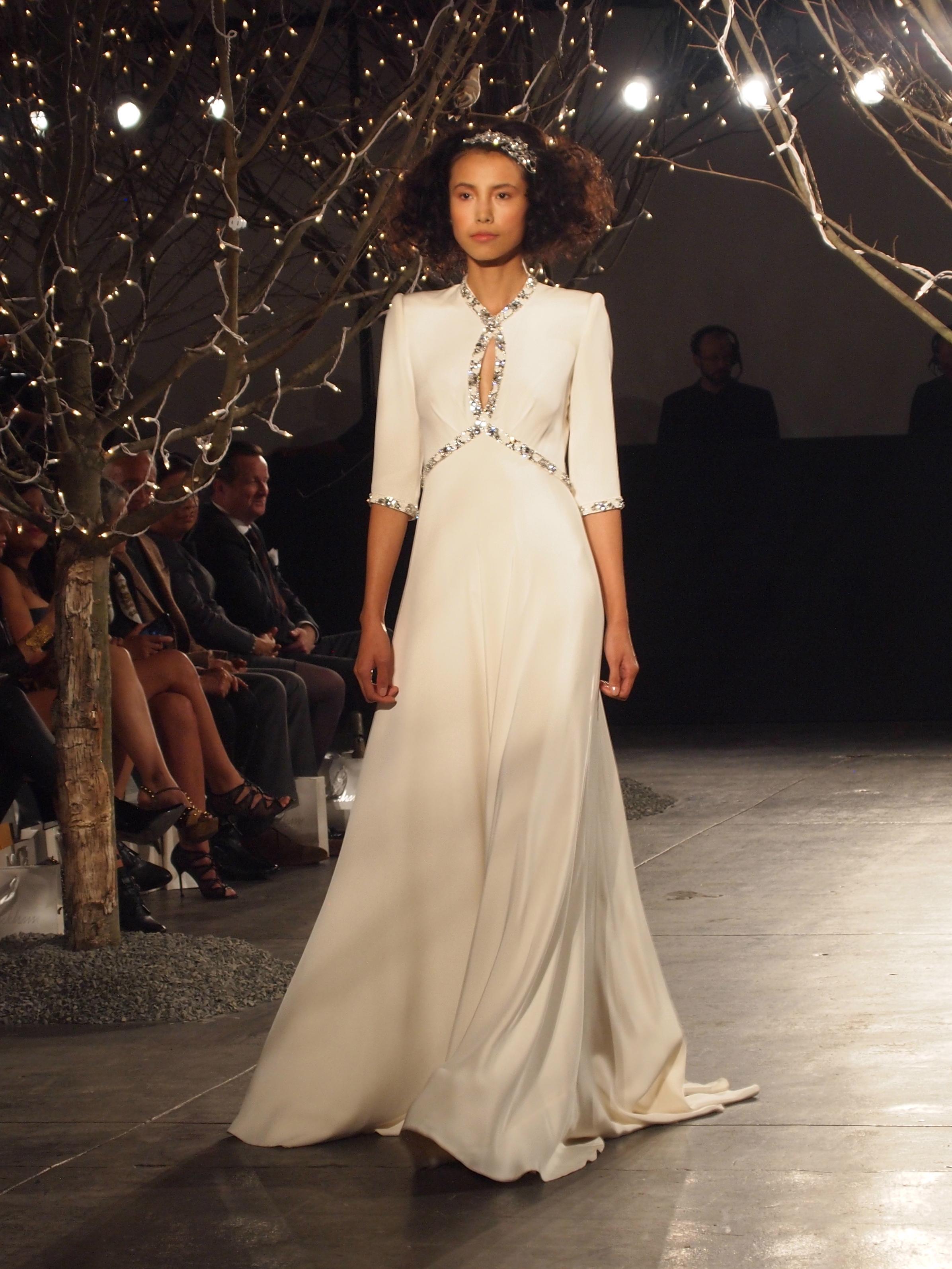 Bridal Fashion Week: Jenny Packham Runway Show — Little White Dress ...