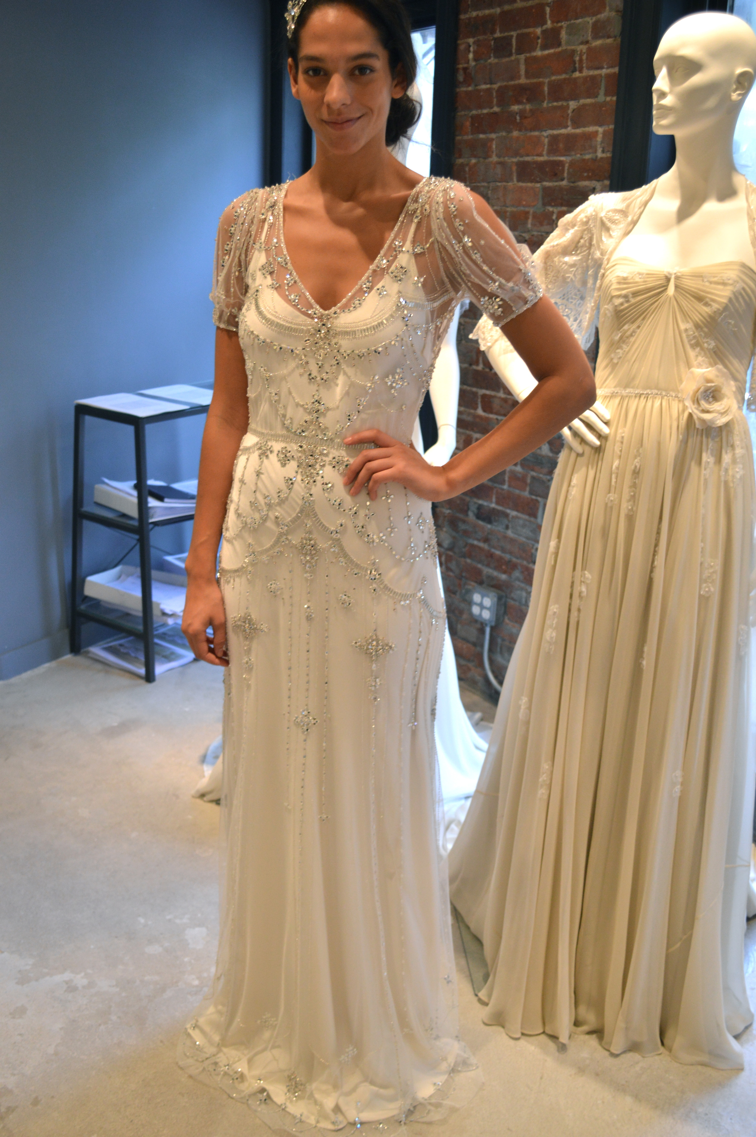 Bridal fashion week the jenny packham showroom little white dress dsc0618 junglespirit Choice Image