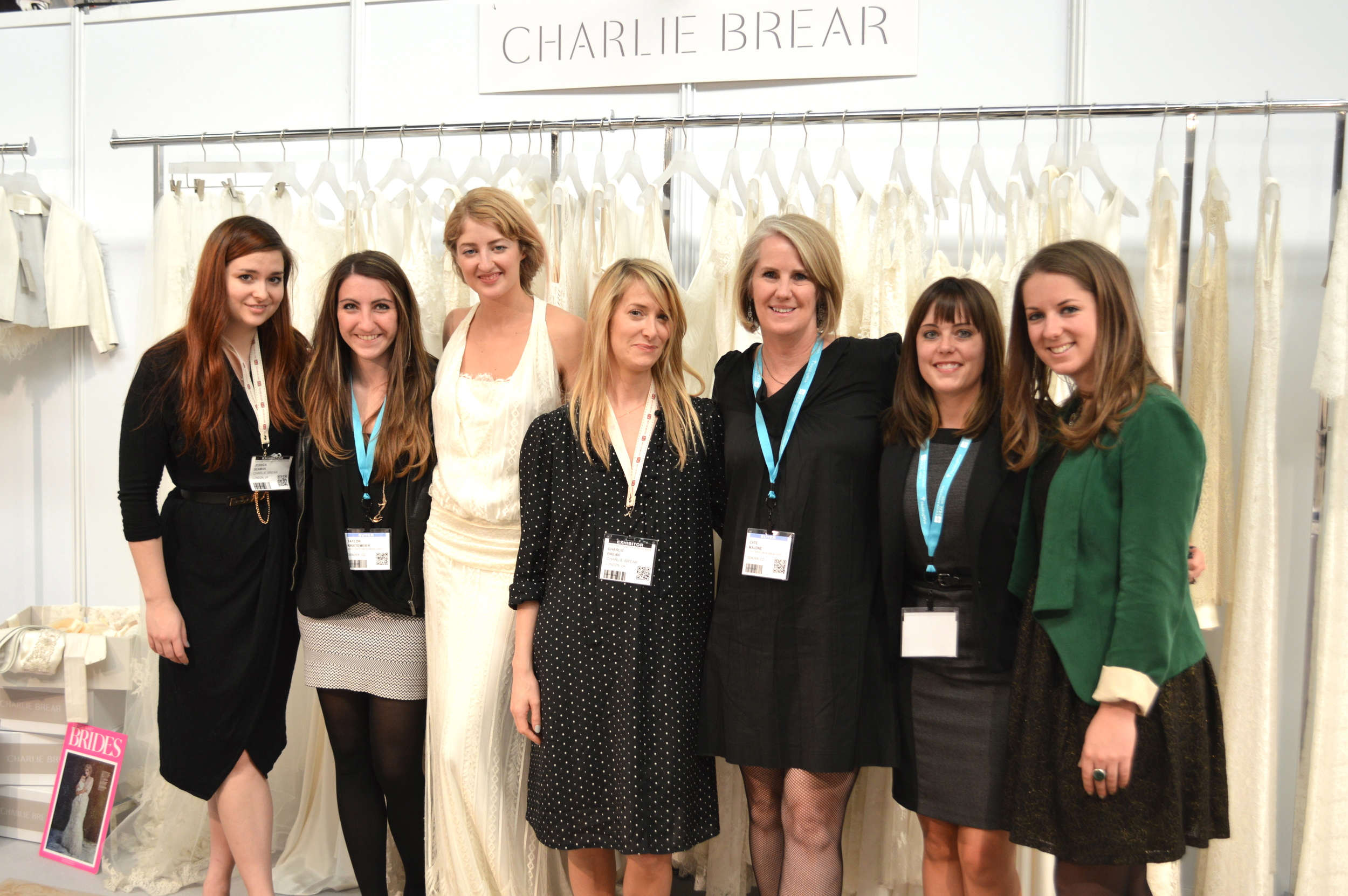 The Little White Dress Bridal Shop ladies with Charlie Brear and her team at New York Bridal Fashion Week.