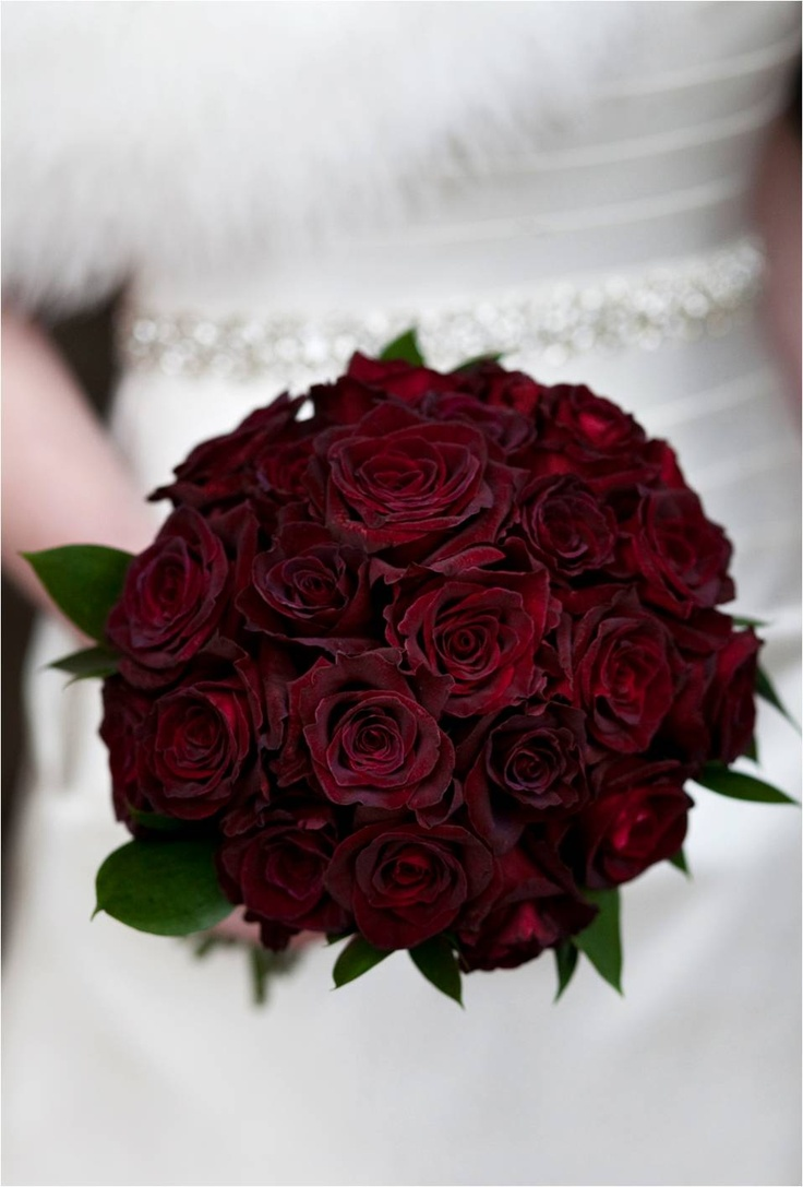 Dark red bridal bouquet - This would be perfect, no greenery needed!