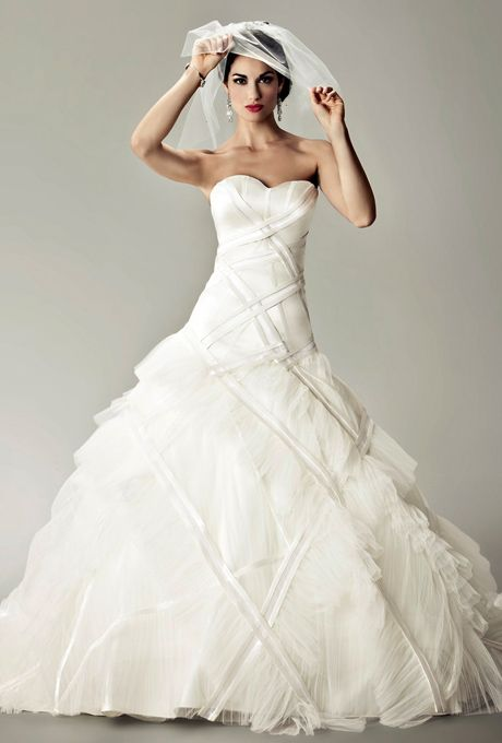 The Bardot gown by Matthew Christopher - one of my favorites at Little White Dress!