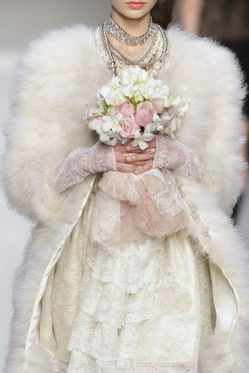 Luxe winter brides - those textures!