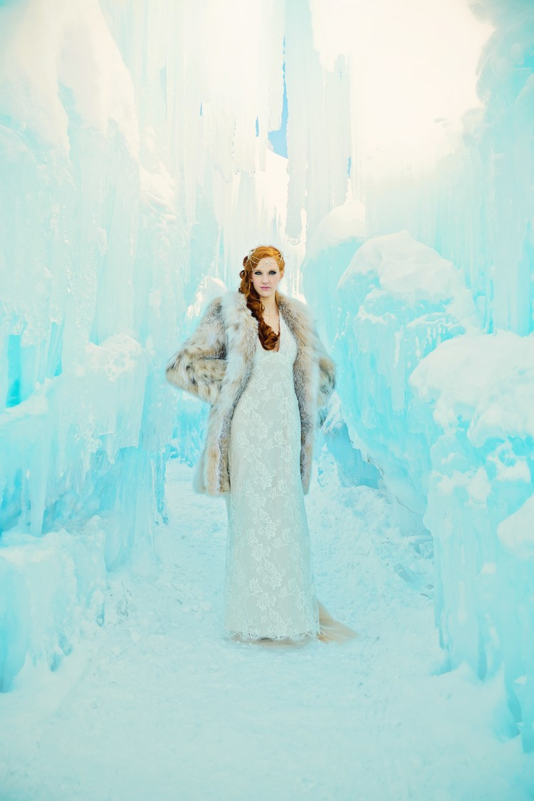 Styled Shoot at the Breckenridge Ice Castles — Little White Dress ...