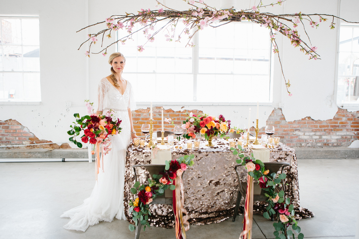 I love everything about this shoot beautiful sequin tablecloth