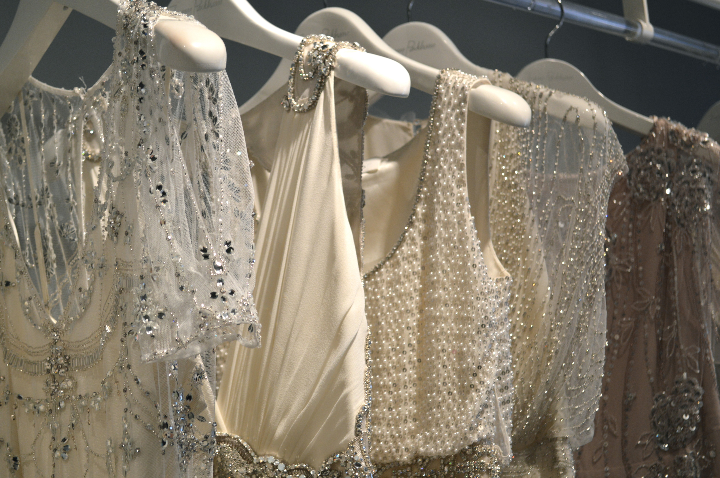 Picking out our new Jenny Packham gowns is like being a kid in a candy shop!