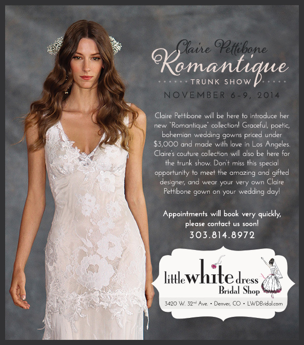 Claire Pettibone Romantique Boulder Wedding Dresses Boho Bride Colorado