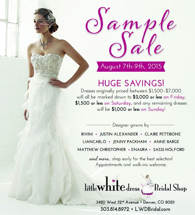 Designer Wedding Dress Sample Sale! — Little White Dress Bridal Shop ...
