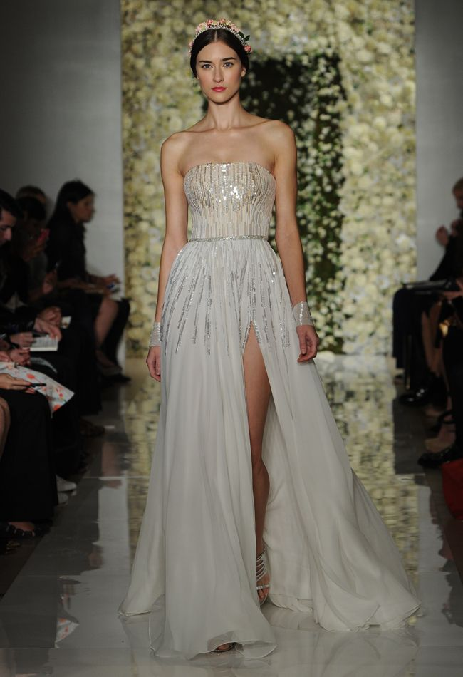 "Reem Acra ""I'm a Sensation"" wedding dress"