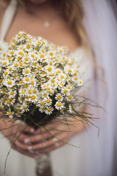 Mini daisy wedding bouquet