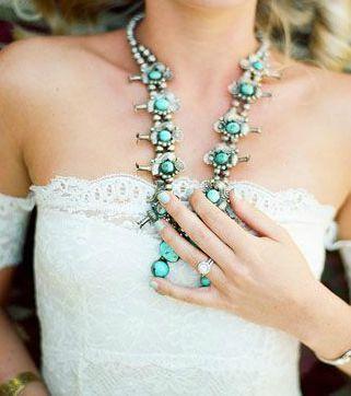 boho bride turquoise
