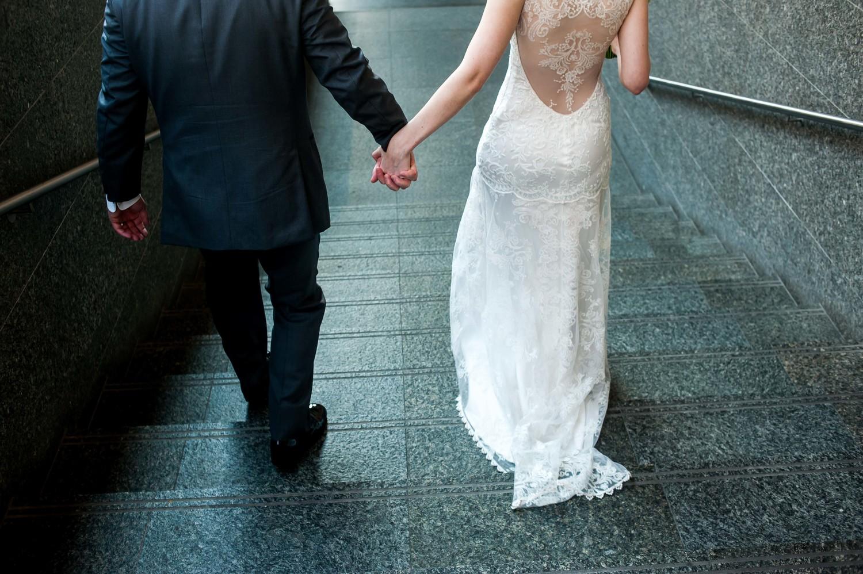 Alaina + Doug\'s Omaha Art Museum Wedding — Little White Dress Bridal ...